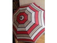 Large Vintage Mary Quant Striped Umbrella