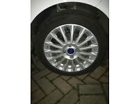 "CHEAP 4x genuine Ford Fiesta mk7 16"" alloy wheels+tyres"
