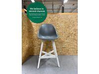FANBYN Bar stool with backrest, in/outdoor, grey/white 64 cm IKEA Croydon #BargainCorner