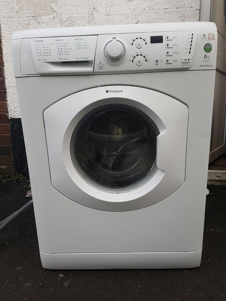 hotpoint 6 kilo 1400 spin washing machine in ribbleton. Black Bedroom Furniture Sets. Home Design Ideas