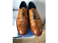 Men's Tan Executive Barkers Shoes worn twice .