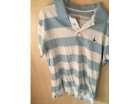 Light Blue and White Jack Wills Polo