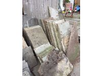 Concrete patio paving slabs available for FREE