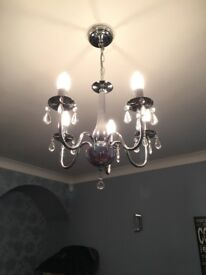 GORGEOUS SILVER CHANDELIER