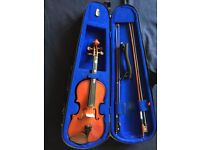 3/4 -size Stentor Student I quality violin with case, bow, chin rest and rosin