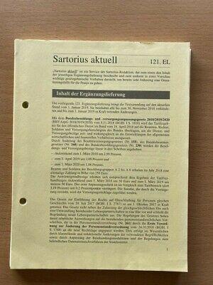 SARTORIUS Verfassungs- und Verwaltungsgesetze 121. Ergänzungslieferung Nov 2018