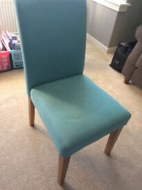Next Teal Dining chairs x2