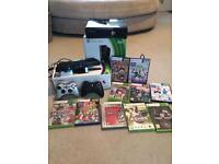 XBOX 360, Kinect , 2 controllers and 10 games!