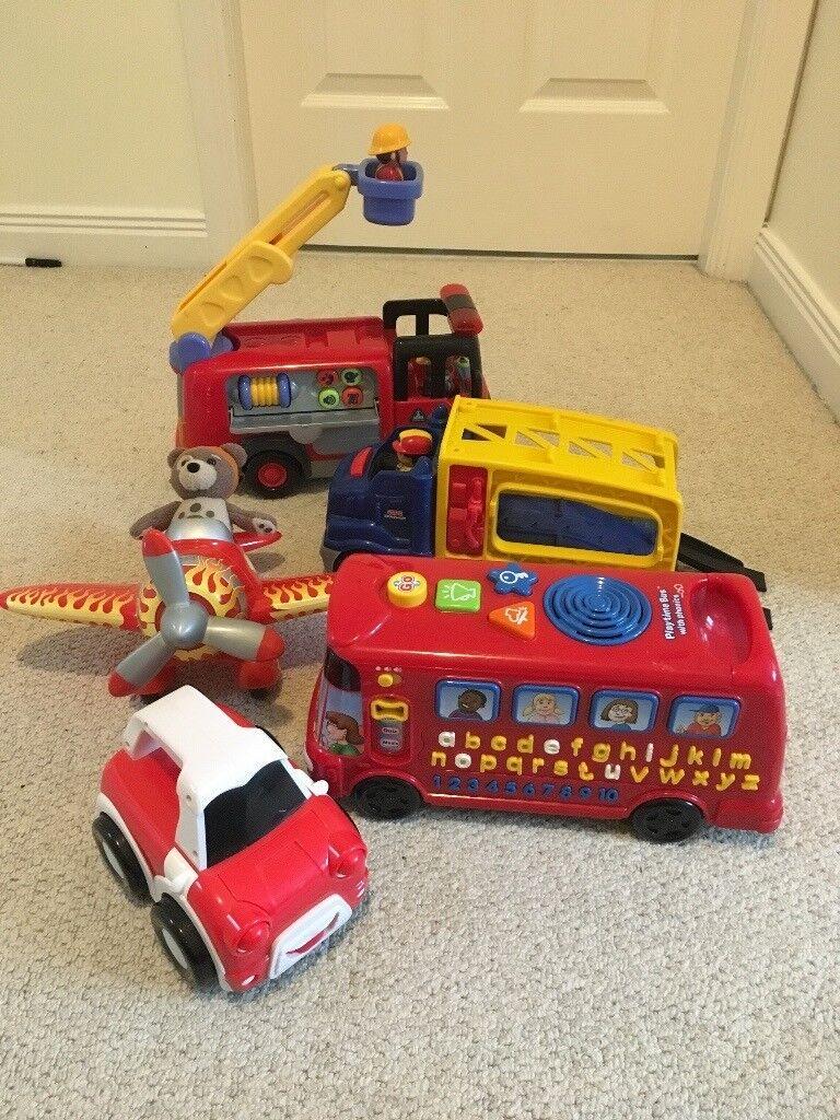 Trucks & Vehicles Bundle - includes ELC Fire Engine, Phonics Bus ...