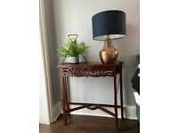 Decorative mahogany effect console table/lamp table