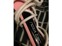 Pink straightening brush