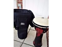 Toca Percussion Full sized Djembe Drum with Meinl PP Carry Case **IDEAL CHRISTMAS GIFT**