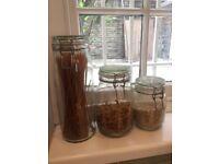 Glass jars (set of three)