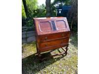 Vintage 1930s oak desk bureau perfect upcycle project