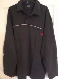 100% GENUINE NIKE Mens Long Sleeve Polo /Golf Shirt SIZE XL BRAND NEW DARK GREY only 3 left