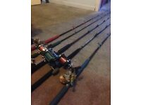 New condition and used saltwater rods and reels