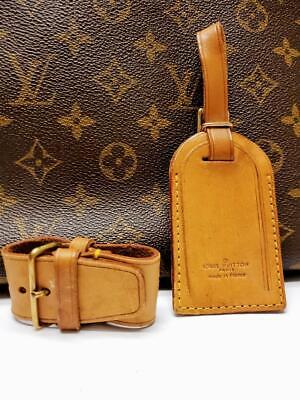 Auth LOUIS VUITTON Large Leather Luggage ID Tag Name Tag And Poignet Set 146 - $49.99
