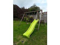 Kids swing set inc slide