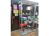 Tempered glass Display Lockable with 6 Shelves comes with 2 bright LED lights