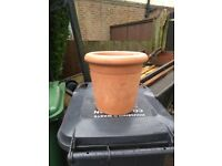 Yorkshire terracotta plant pot, planter, plant pot,