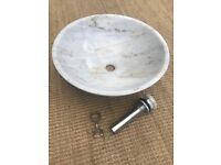 Round Marble Countertop Sink