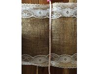 Shabby chic wedding table runners 9 in total