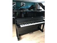 Miki black upright piano | Yamaha U1 | Belfast Pianos |