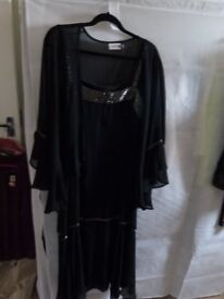 LADIES BLACK DRESS AND JACKET BY INSPIRATIONS