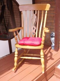 Quality Wooden Rocking Chair.