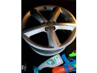 """Cheapest orginal s line wheels Audi A4 A5 A3 and two with tyre on new bargain 18""""inch"""