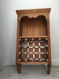 Wall mounted solid Pine Wine Rack