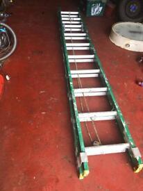 Fibreglass extension ladder