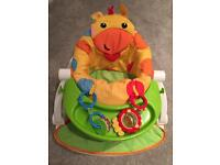 Fisher Price Sit Me Up Chair with Tray and Toys