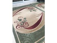 Beautiful Green and Red Rugs