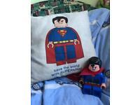Alarm clock and cushion Lego Superman
