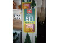 5 ft fibre optic Xmas tree