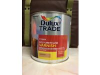 2.5 lt Dulux Interior Poltyurethane Varnish Matt Clear