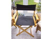 Wood and canvas Folding Director Chair