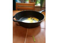 Cast iron deep skillet 12 inch