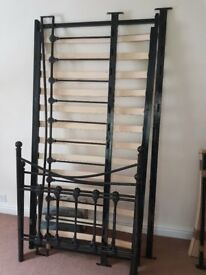 Black shabby chic day bed