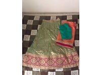 Pea Green Lehenga/Indian Wear