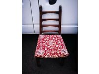Solid oak hall chair