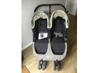 Baby Jogger City Mini Double pushchair - used with rain cover