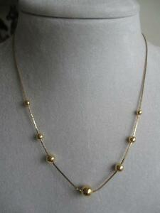 "STUNNINGLY BRILLIANT OLD VINTAGE 17"" GOLDTONE FINE-LINK NECKLACE"