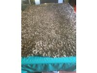 6x4 deep piled brown rug excellent condition