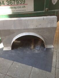 An Arch Lintal for a circular window , made in Stainless steel