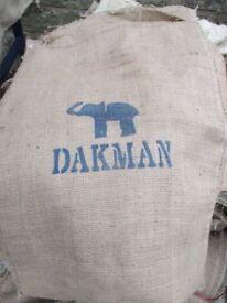 100 x Coffee Hessian Jute sacks mixed chosen at random crafts veg etc