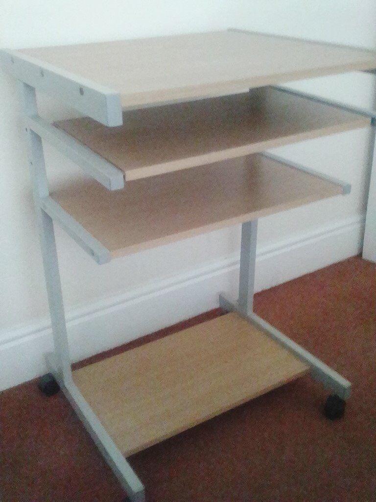 Computer Table For Sliding Shelf Key Board Good Working Order