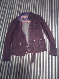 Super dry ladies wax jacket size small