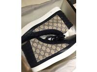 Gucci trainers shoes high tops mens 11 genuine with invoice beige navy new and boxed